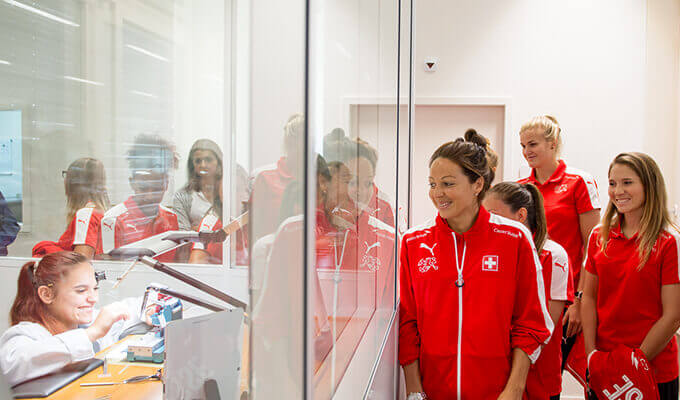 The Swiss Women's National Team visits Carl F. Bucherer.